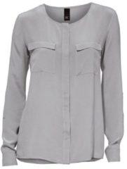 Grijze Zijden blouse