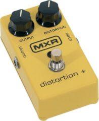 Gele MXR M104 Distortion Plus distortion pedaal