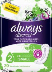 Always Discreet voor urineverlies en incontinentie Small - Voordeelverpakking 160 Stuks - Maandverband
