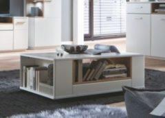 Couchtisch 115 x 70 cm weiss matt lackiert / Asteiche furniert geölt MCA-Furniture Cesina