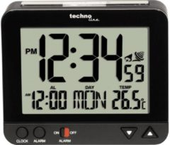 Techno Line WT195 schwarz Wekker Zendergestuurd Zwart Alarmtijden 1