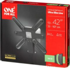 One For All WM 6221 42 Zwart, Wit flat panel muur steun