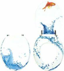 Blauwe Wirquin Wc-bril decoratieve decoratie vis
