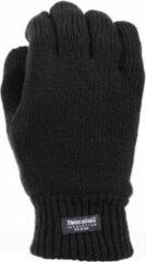 Thinsulate gebreide handschoenen zwart voor dames en heren XL/2XL