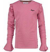 Vingino! Meisjes Shirt Lange Mouw - Maat 164 - Roze - Katoen/elasthan