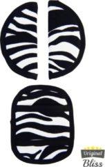 Zwarte Bliss Gordelbeschermer voor Maxi-Cosi met 3 puntsgordel - Zebra