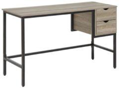 Beliani Grant Bureau Donker houtkleur Verlijmd hout