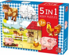 King International Puzzel 5 in 1 Boerderij - Kiddy Puzzel Farm - King