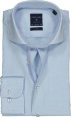 Profuomo Slim Fit overhemd - mouwlengte 72 cm - lichtblauw fine twill - Strijkvrij - Boordmaat: 39