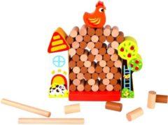 Tooky Toy stapeltoren junior 31 x 6 x 17 cm hout bruin 67-delig