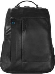 Pulse Business Rucksack I Leder 42 cm Laptopfach Piquadro schwarz