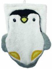 Gele Furnis 100% biologisch washandje pinguïn volwassene