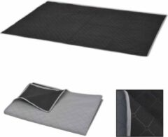 VidaXL Picknickkleed 150x200 cm grijs en zwart