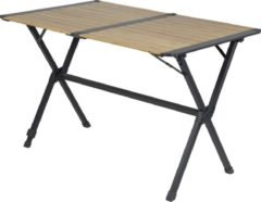 Antraciet-grijze Bo-Camp Urban Outdoor - Oprolbare Campingtafel - Maryland - 111x72x70 cm - Bamboe