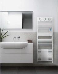SAUTER Marapi Elektrische Handdoekverwarmer met Blaasapparaat - 1750 watt - LCD-scherm - Programmeerbaar - Ronde buizen