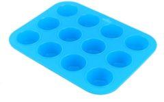 Blauwe Kitchen Princess - Siliconen Muffin Bakvorm - Cupcakes - 12 stuks
