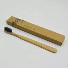 Bamboetandenborstels.nl Bamboe Tandenborstel | Set van 1| Zacht/medium voor gevoelige tandvlees|Biologisch afbreekbaar| 100% organic |