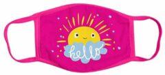 Masker-Kinderen-Roze- Mond- Gezichtsmasker- Textiel- Wasbaar- Charme Bijoux®