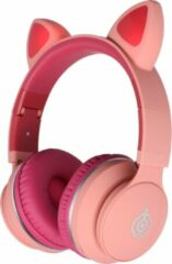 MeGoo Kinder draadloze bluetooth koptelefoon |LED031| led oortjes | roze