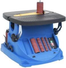 VidaXL Spil- en bandschuurmachine oscillerend 450 W blauw