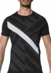 Asics Sportshirt - Maat M - Mannen - zwart,grijs,wit