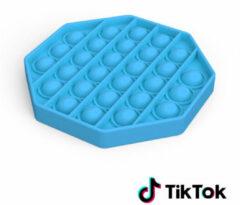 Merkloos / Sans marque Pop it Fidget Toy- Bekend van TikTok - Hexagon - Blauw