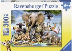 Zwarte Ravensburger puzzel Afrikaanse vrienden - Legpuzzel - 300 stukjes