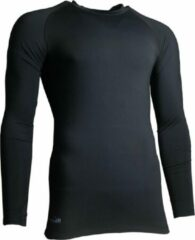 Precision Training Thermoshirt Basislaag Junior Polyester Zwart Maat L