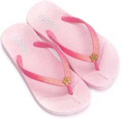 Zebra slippers roze maat 37