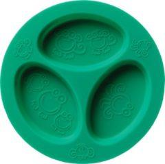 Blauwe Oogaa Siliconen 3 Vaks Bord - Sea Green