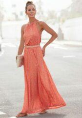 Rode Lascana maxi-jurk met print all-over