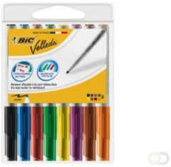 Viltstift Bic 1748 whiteboard rond ass 1.4mm blister à 8st
