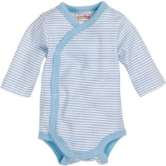 Schnizler Romper Wrap Body Basic Junior Lichtblauw/wit Maat 50