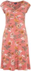 TOM TAILOR TOM TAILOR Damen Jersey-Kleid mit Falten am Ausschnitt, Damen, faded rose, Größe: 38, rosa, unifarben, Gr.38