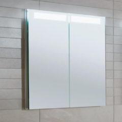 Villeroy & Boch Villeroy en Boch My View In inbouw spiegelkast met LED verlichting 3 voudig dimbaar met 2 deuren 80.1x74.7x10.7cm a4358000