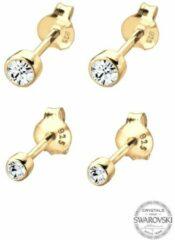 Goudkleurige Elli Oorbellen Verguld 925 sterling zilver Swarovski® Kristal