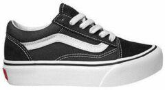 Zwarte Skateschoenen Vans Old skool platfor