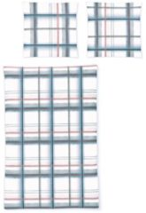 Biber Bettwäsche Davos 8630-20 Irisette blau