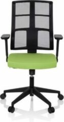 Hjh OFFICE Spinio - Professionele bureaustoel - Zwart / Groen - stof / netstof