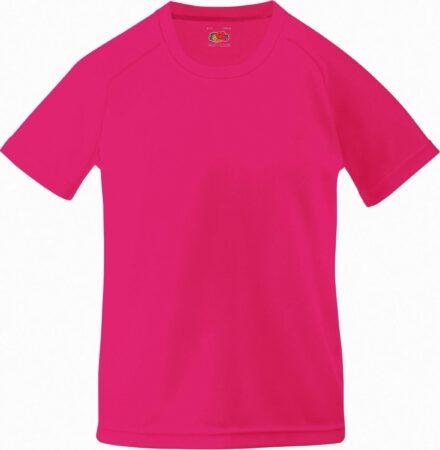Afbeelding van Fruit Of The Loom Kinderen Unisex Prestatie Sportskleding T-Shirt (2 stuks) (Fuchsia)