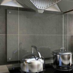 VidaXL Spatscherm keuken 80x60 cm gehard glas transparant