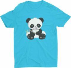 Blauwe Pixeline Panda #Blue 142-152 12 jaar - Kinderen - Baby - Kids - Peuter - Babykleding - Kinderkleding - Panda - T shirt kids - Kindershirts - Pixeline - Peuterkleding
