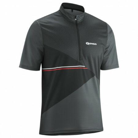 Afbeelding van Gonso - Ripo - Fietsshirt maat 6XL zwart/grijs