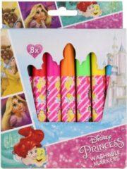 Paarse Uitwasbare Stiften | Washable Markers | Stiften Kinderen- 8 Stuks Disney Princess Prinsessen