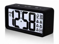 Zwarte Radio gestuurde wekker - Datum en weekdagweergave - Technoline WT 496
