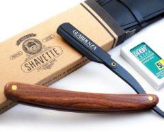 """Guardenza Shavette """"Cut Throat"""" scheermes (incl. scheermesjes en hoes) - open scheermes - barbiermes"""