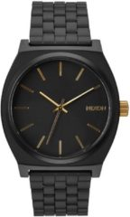 Nixon A0451041 Time Teller matte black / gold - Horloge - 37mm - Zwart