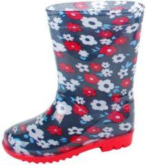 Blauwe Gevavi Boots Flower meisjeslaars pvc blauw 27