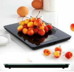 Zwarte Elektronische keukenweegschaal, zwart - mastrad
