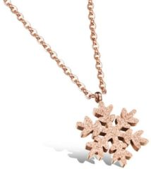 Roze Cilla Jewels ketting Rosegoud Snowflake Pendant